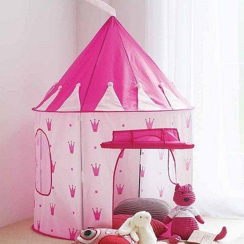 Casita castillo carpa de tela pleglable juguete para ni a - Casitas de juguete para ninas ...