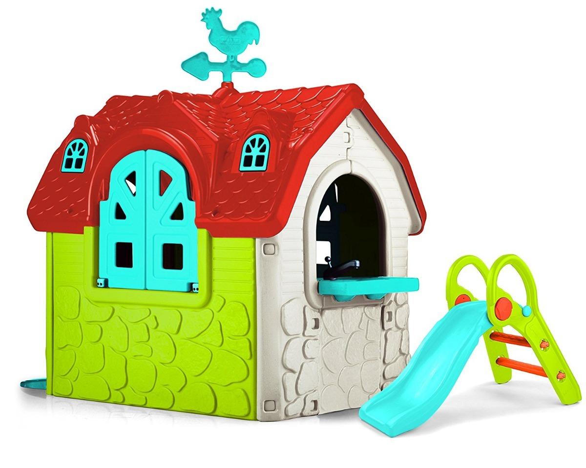 Casita de juegos para ni os resbaladilla tobogan - Casitas de juguete para ninas ...