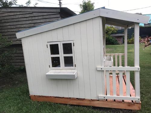 casita de madera para niño