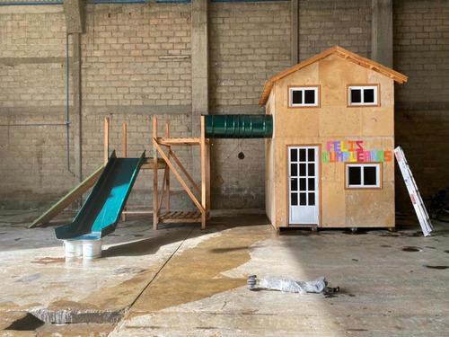 casita de madera para niños