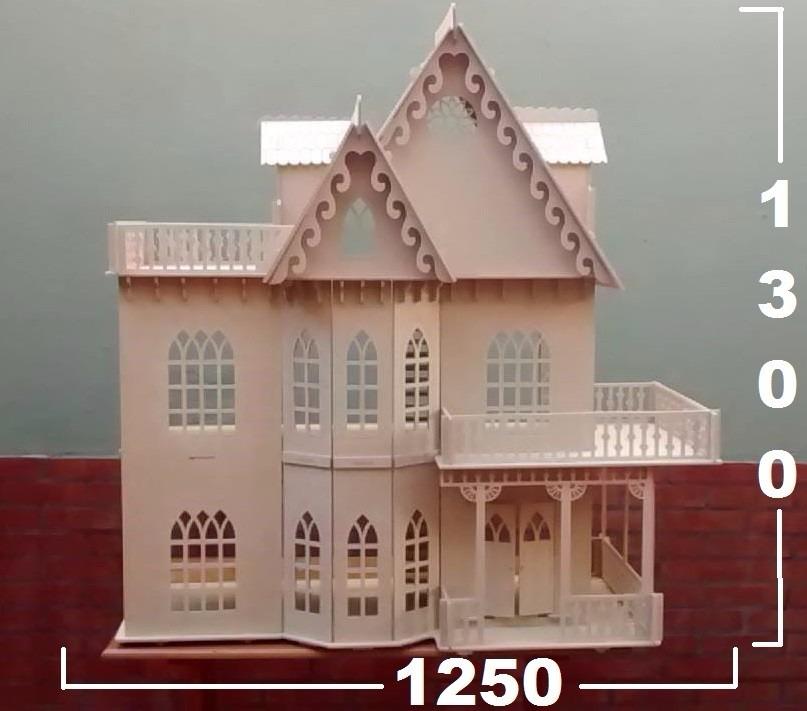 Casita De Muñecas Barbie 9 Amb+25 Muebles Gigante Madera Mdf ...
