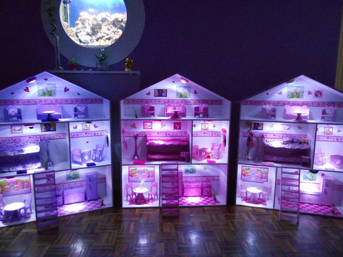 casita de muñecas, barbie, c/muebles y regalos! casitas holy