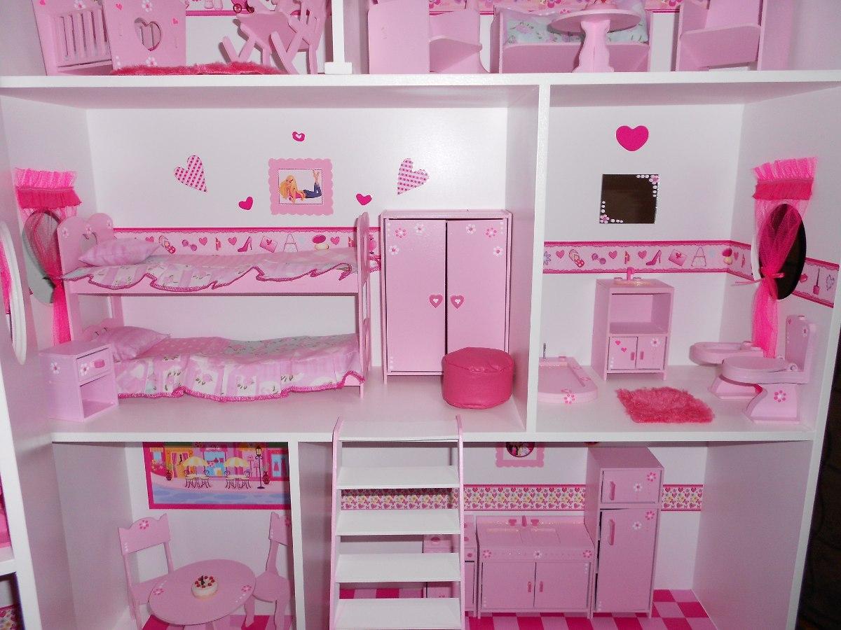 Casita De Muñecas, Barbie, C/muebles Y Regalos Casitas Holy ...