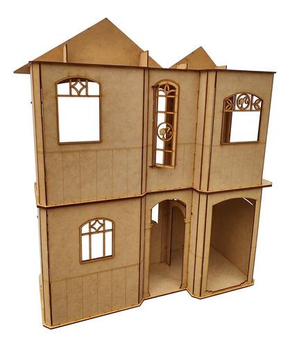 casita de muñecas barbie ejecutiva casa fibrofacil 2 pisos