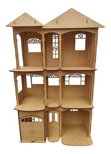 casita de muñecas barbie ejecutiva casa fibrofacil 3 pisos