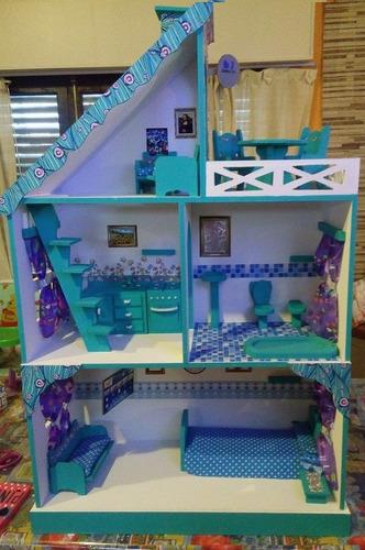 casita de muñecas muebles,ruedas,luces regalo envio gratis