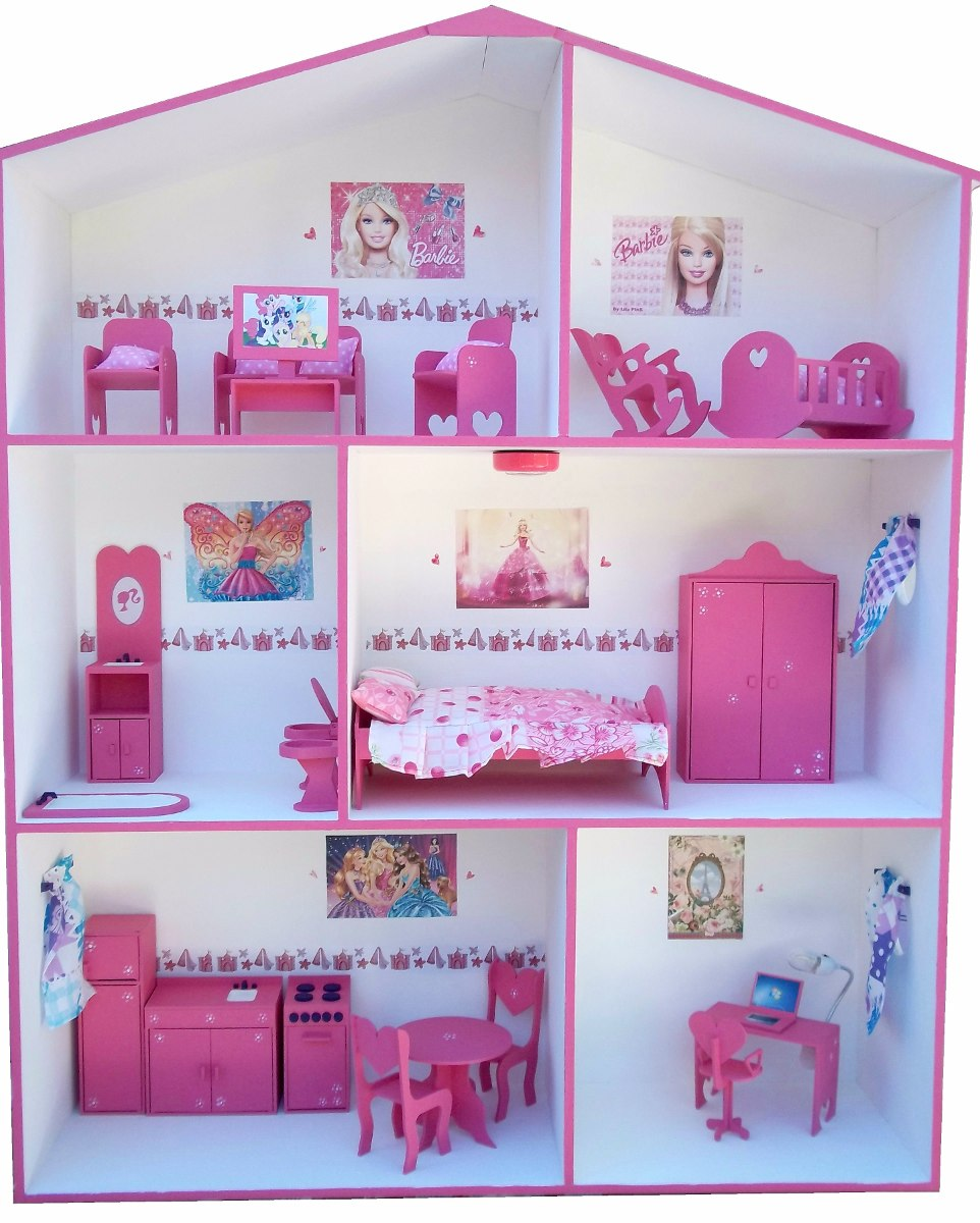 Casita De Mu Ecas P Barbie Muebles Y Regalitos 2 900 00 En  # Muebles Banfield