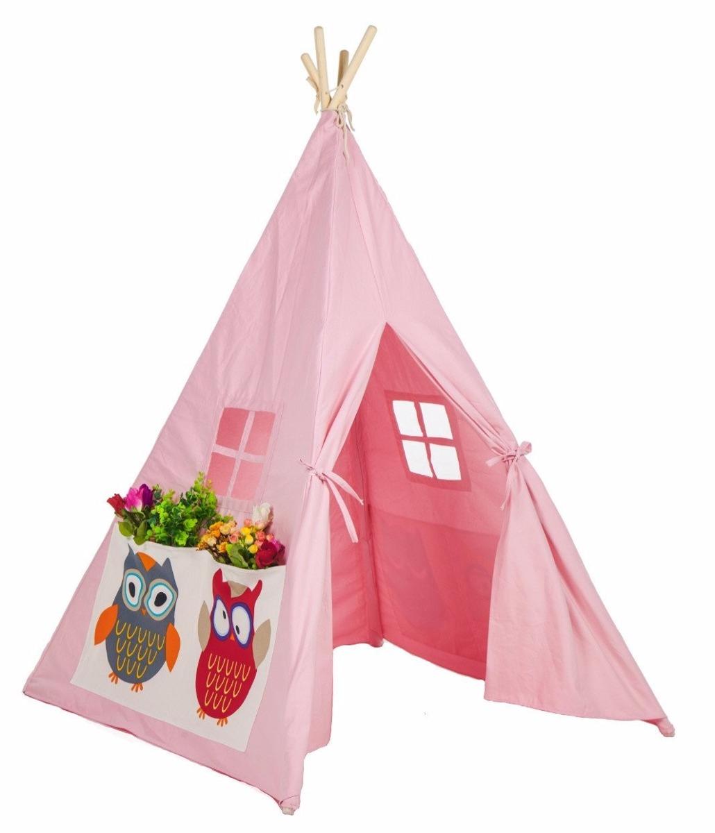 Casita de tela para ni os lubber rosa con buhos - Casitas de tela para ninos imaginarium ...
