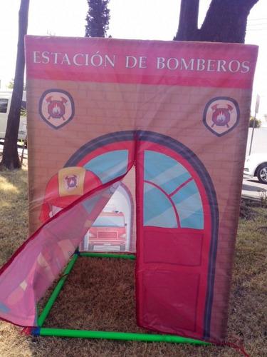 casita estación de bomberos material didactico