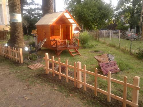 casita hecha en madera para niños