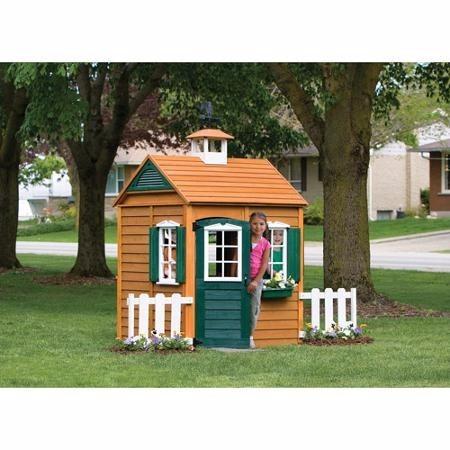 Casita infantil casa de juego para ninas de madera natural - Casas de madera natural ...