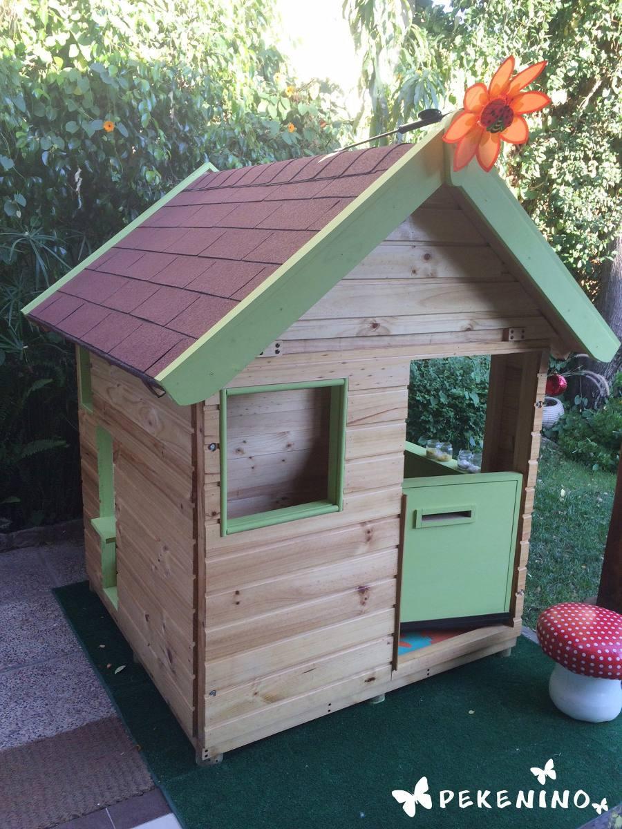 Casita infantil de madera casa de mu ecas de madera for Casitas de metal para jardin