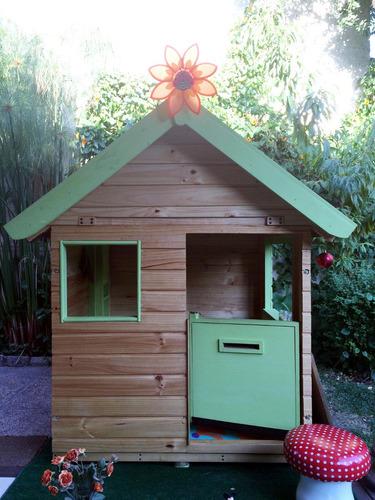 Casita infantil de madera casa de mu ecas de madera - Seguros casas de madera ...