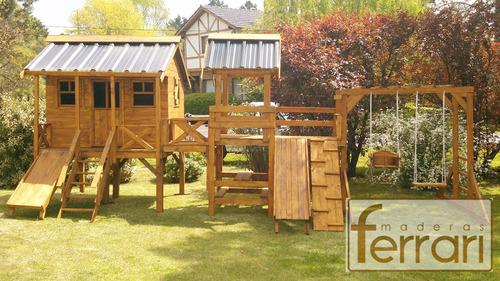 casita infantil maderas ferrari niños juegos ofertas navidad