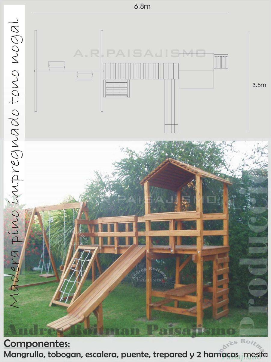 casita infantil nios de madera super grande juegos balcon
