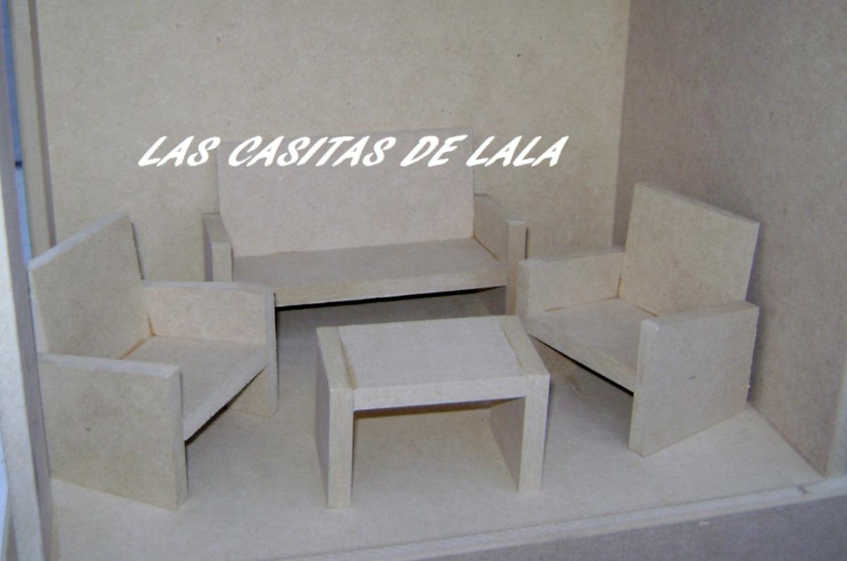 Casita Muñecas Barbie Con Muebles Las Casitas De Lala - $ 2.695,00 ...