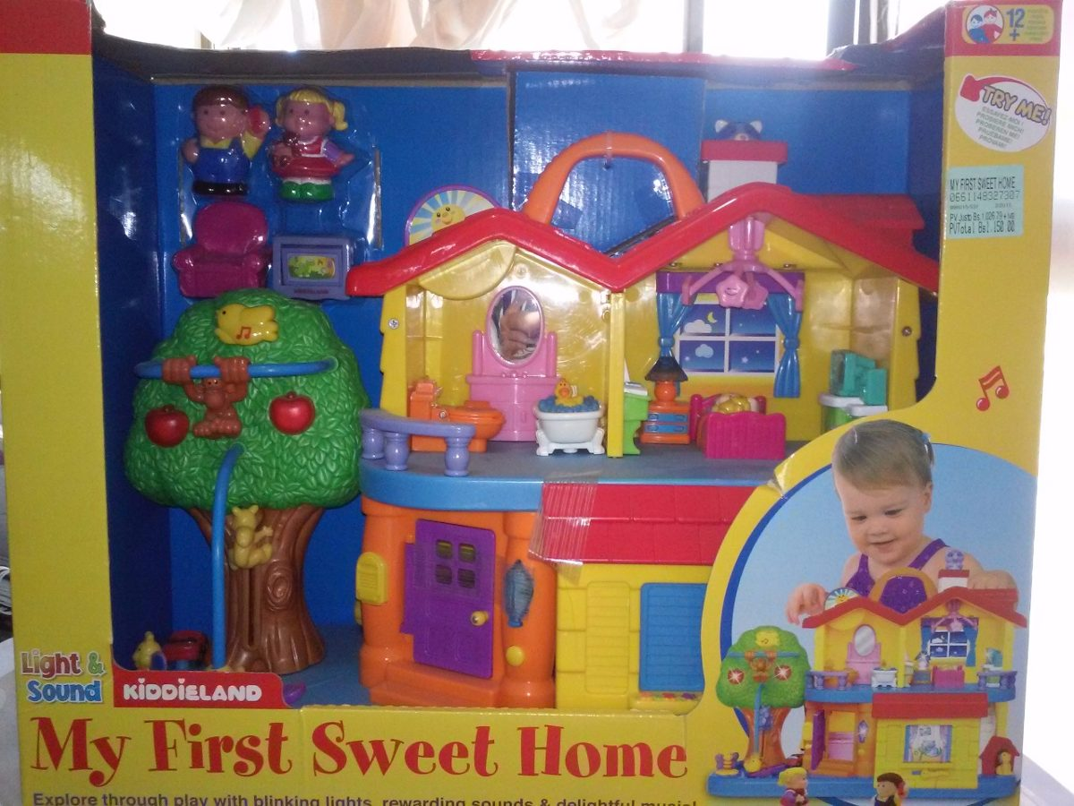 casita my first sweet home kiddieland bs en mercado libre. Black Bedroom Furniture Sets. Home Design Ideas