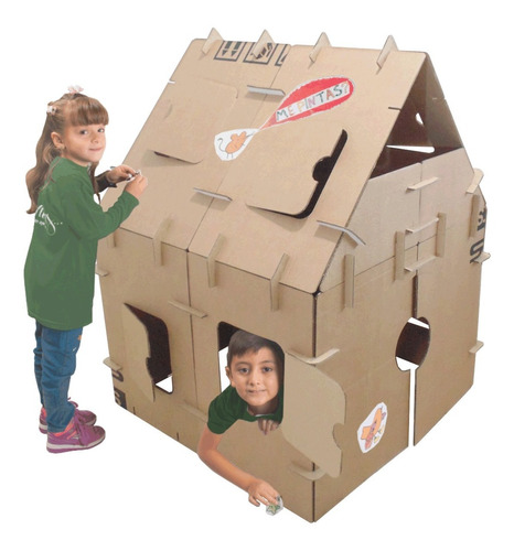 casita para niños ondulé para pintar incluye stickers