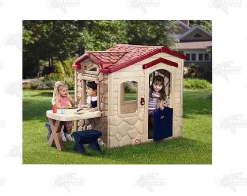 casita picnic patio + 19 piezas little tikes xtr p