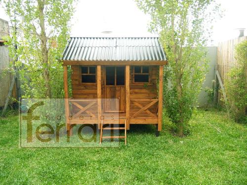 casita reforzada interio 2x2m m5 maderas ferrari parred 3/4!