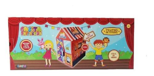 casita teatro de titeres carpa 2 en 1 faydi fd2777 educando