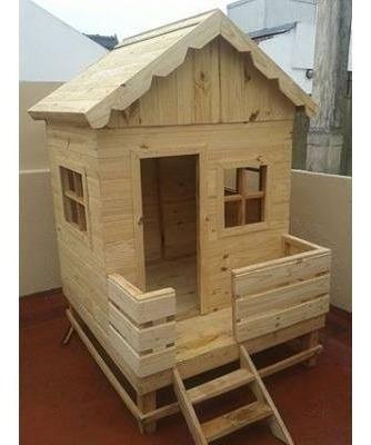 casitas cabañas niños niñas jardines patios madera pino