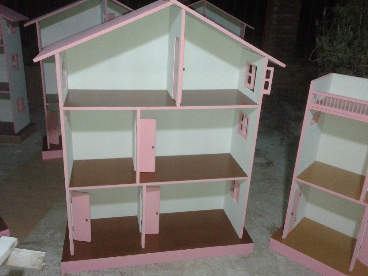 Como hacer munecas de madera para casa casitas de mu 241 ecas barbie en madera 3 400 00 en - Como hacer muebles para casa de munecas ...