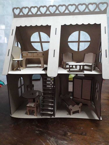 casitas para muñecas en mdf