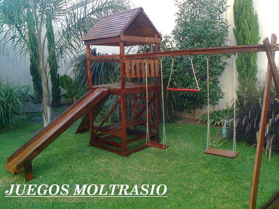 Casitas Y Mangrullos Infantiles Con Juegos - Todo En Madera ...