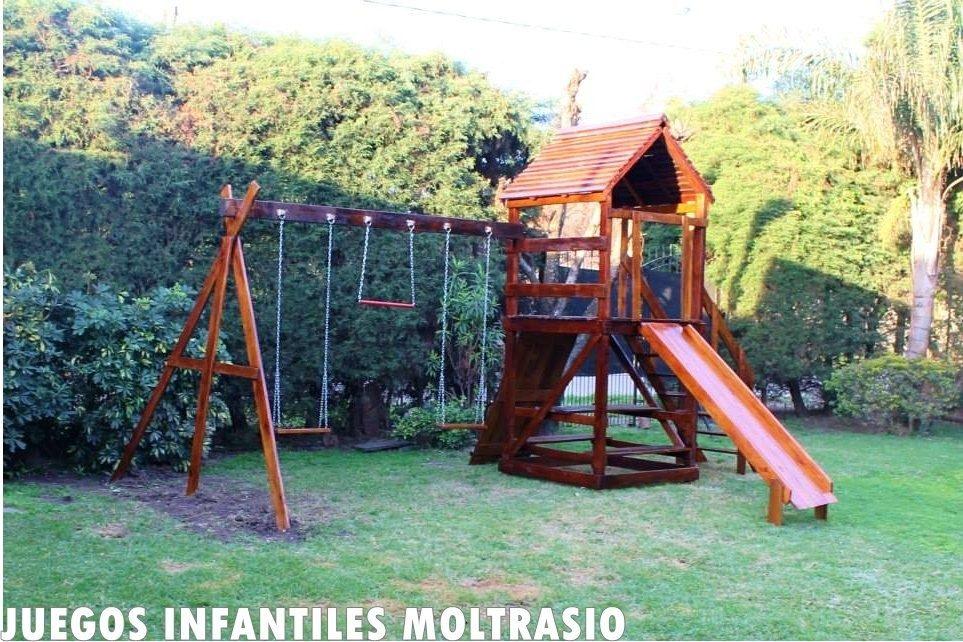 Casitas Y Mangrullos Infantiles Con Juegos Todo En Madera