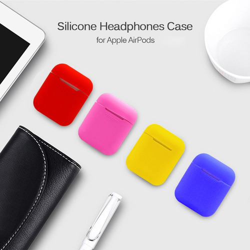 caso de fones de ouvido de silicone para apple airpods caixa