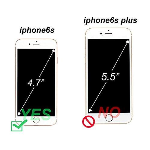 caso de iphone 6s, caso del iphone 6, arae [cuero genuino] f