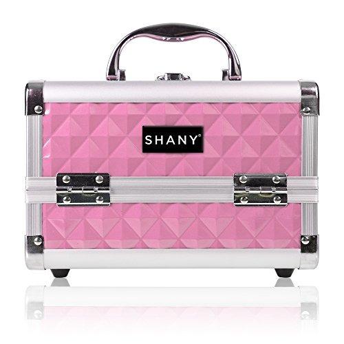 caso de tren shany maquillaje con espejo - rosa cortés