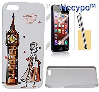 caso del iphone 5s, nccypo torre eiffel y de moda joven con