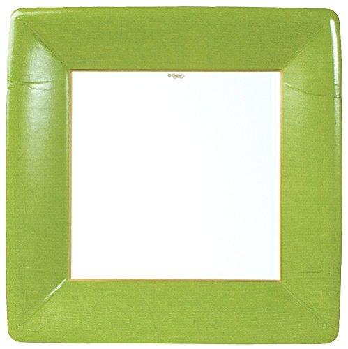 caspari entretenedor square frontera grosgrain platos, verd