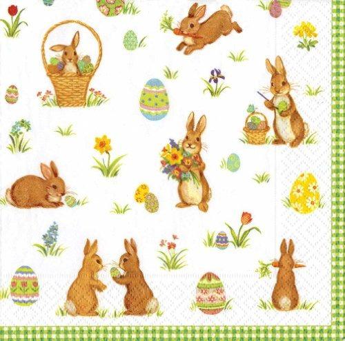 caspari servilleta entretenido cóctel, los conejos de rabo