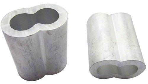 casquillo doble de aluminio 5/32  con100 pzas