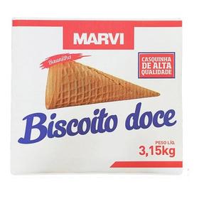 Casquinha Biscoito Doce Marvi Sorvete Ou Cone C/300 Unidades