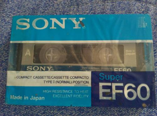 cassete marca sony 60minutos de grabación. hecho en japón