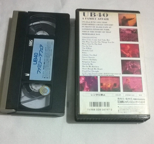 cassete  vhs ub40 a familly after live in a concert 5s