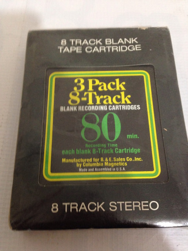 cassette 8 track virgen!! cartucho sellado! 10ks