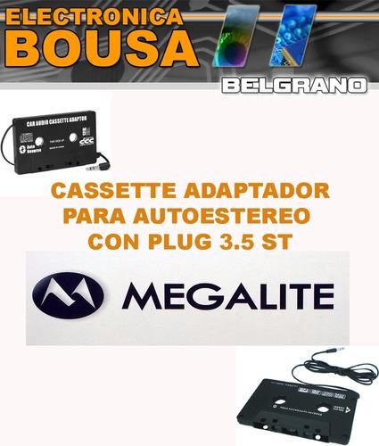 cassette adaptador para auto estereo