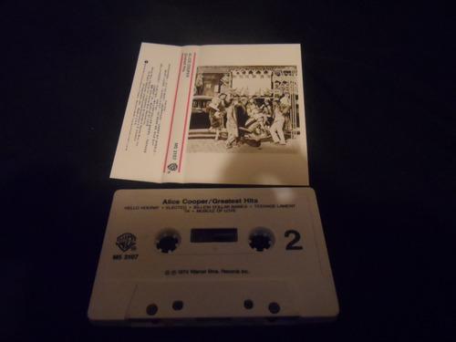cassette alice cooper - greatest hits 1974 warner rock