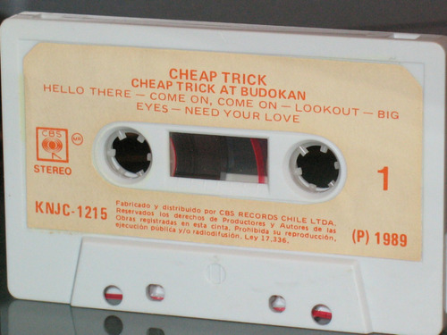 cassette cheap trick - cheap trick at budokan (1978) - nuevo