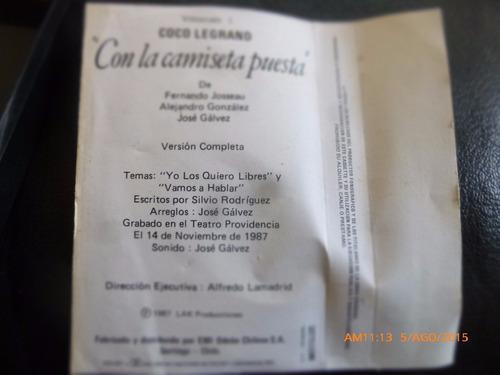 cassette - coco legrand -- con la camiseta puesta (c-384