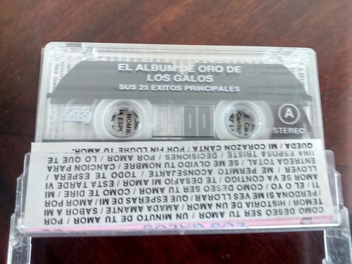 cassette de album de oro de los galos (c-204