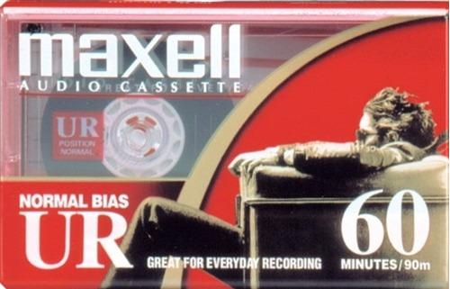 cassette de audio maxell 60 minutos ¡nuevos!
