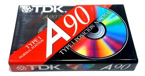 cassette de audio nuevo tdk 90 minutos type 1 normal sellado