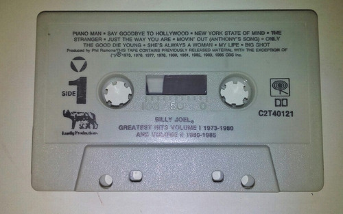 cassette de billy joel .exitos