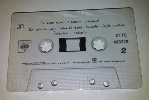 cassette de cecilia toussaint